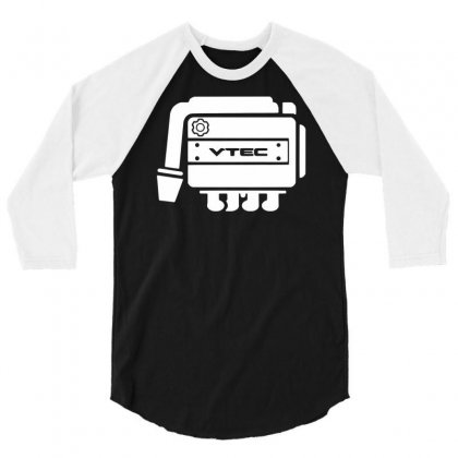 Vtec Engine 3/4 Sleeve Shirt Designed By Budi