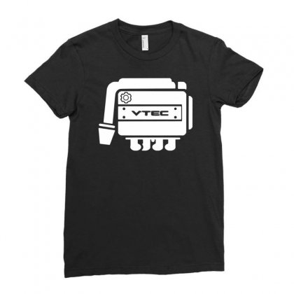 Vtec Engine Ladies Fitted T-shirt Designed By Budi