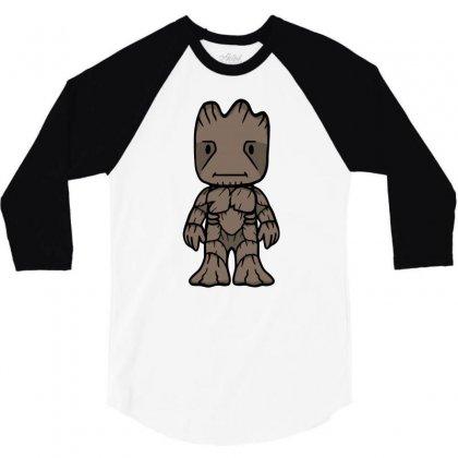 Friendly Tree 3/4 Sleeve Shirt Designed By Budi
