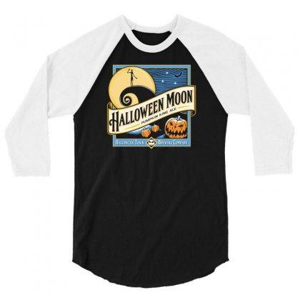 Halloween Moon 3/4 Sleeve Shirt Designed By Budi