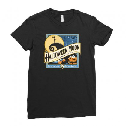 Halloween Moon Ladies Fitted T-shirt Designed By Budi