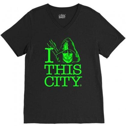 I Heart This City V-neck Tee Designed By Budi