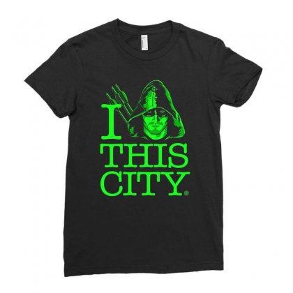 I Heart This City Ladies Fitted T-shirt Designed By Budi