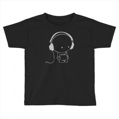 Music Toddler T-shirt Designed By Mdk Art