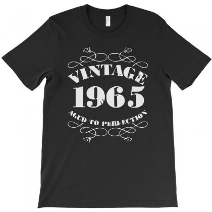 Gift Boxed Vintage 1965 50th Birthday T-shirt Designed By Mdk Art