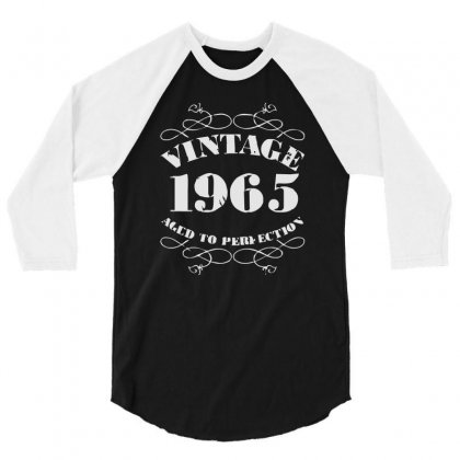 Gift Boxed Vintage 1965 50th Birthday 3/4 Sleeve Shirt Designed By Mdk Art