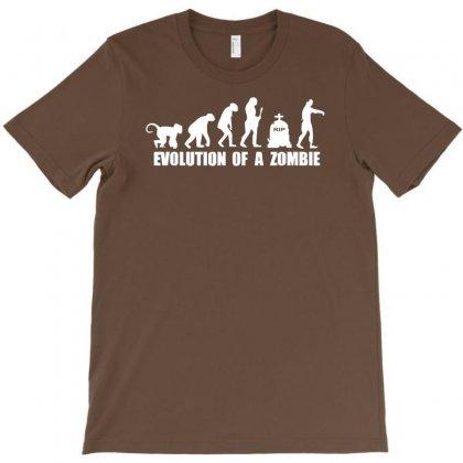 Evolution Of A Zombie T-shirt Designed By Mdk Art