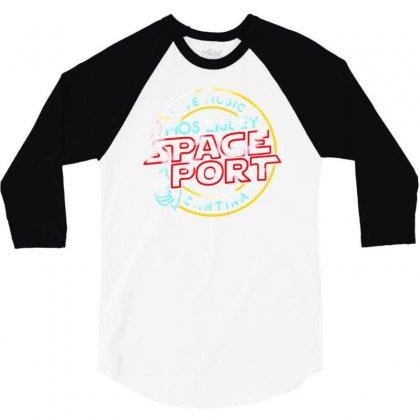 Space Port 3/4 Sleeve Shirt Designed By Mdk Art