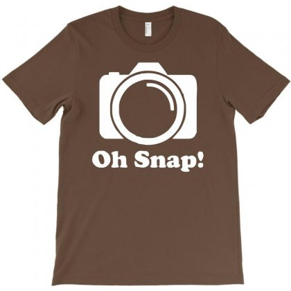 Oh Snap Camera T-shirt Designed By Mdk Art