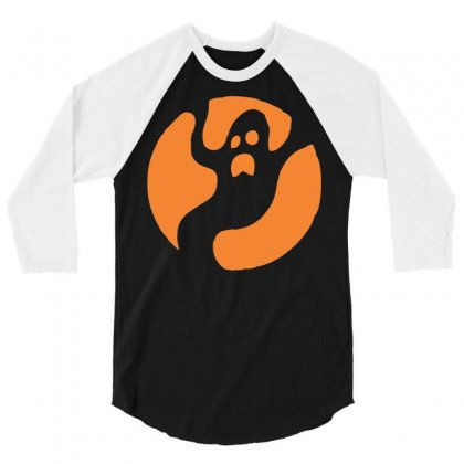 Halloween Ghost 3/4 Sleeve Shirt Designed By Sbm052017