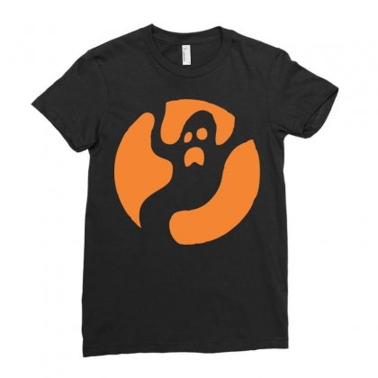Halloween Ghost Ladies Fitted T-shirt Designed By Sbm052017