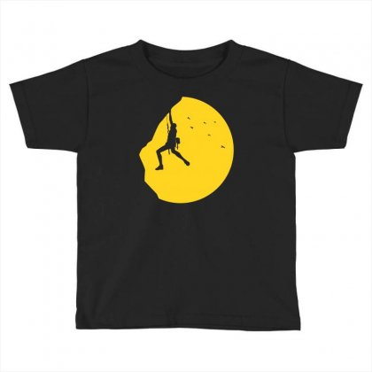 Adrenaline Addict Rock Climbing Toddler T-shirt Designed By Budi