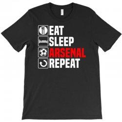 eat sleep arsenal T-Shirt   Artistshot