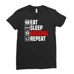eat sleep arsenal Ladies Fitted T-Shirt   Artistshot