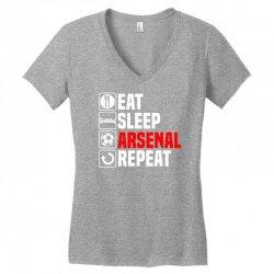 eat sleep arsenal Women's V-Neck T-Shirt   Artistshot