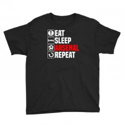 eat sleep arsenal Youth Tee   Artistshot