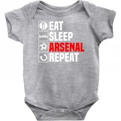 eat sleep arsenal Baby Bodysuit   Artistshot