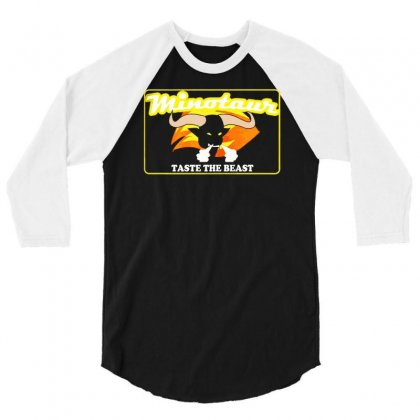 Role Models Movie   Minotaur Energy Drink 3/4 Sleeve Shirt Designed By Mdk Art