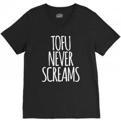 tofu never screams V-Neck Tee | Artistshot