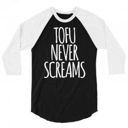 tofu never screams 3/4 Sleeve Shirt | Artistshot