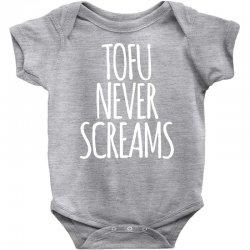 tofu never screams Baby Bodysuit | Artistshot