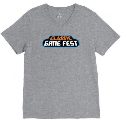 Classic Game Fest V-neck Tee Designed By Mdk Art