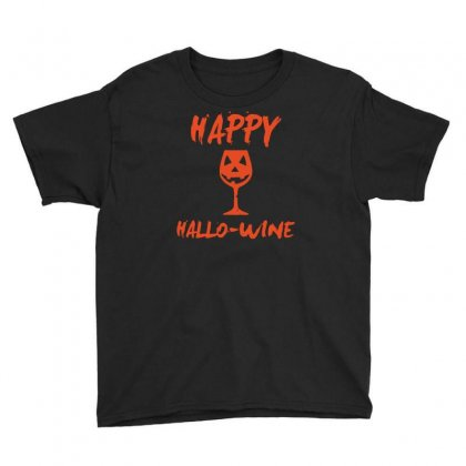 Halloween Happy Hallowine Youth Tee Designed By Mdk Art
