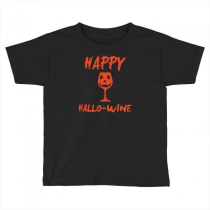 Halloween Happy Hallowine Toddler T-shirt Designed By Mdk Art