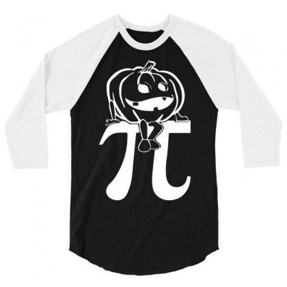 Halloween Pumpkinpi 3/4 Sleeve Shirt Designed By Mdk Art