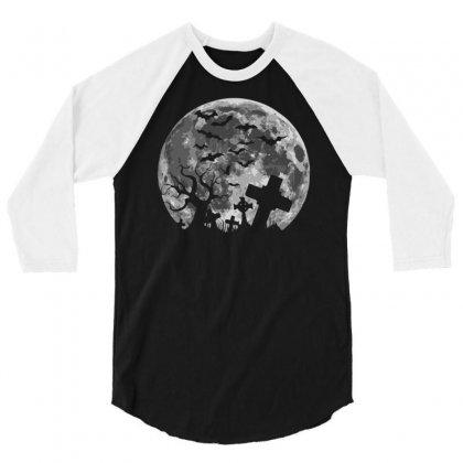 Halloween 3/4 Sleeve Shirt Designed By Mdk Art