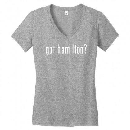 Got Hamilton Women's V-neck T-shirt Designed By Vr46