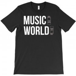 music on world off T-Shirt | Artistshot