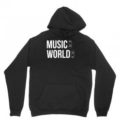 music on world off Unisex Hoodie | Artistshot