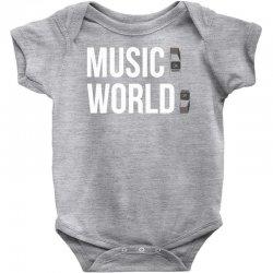music on world off Baby Bodysuit | Artistshot