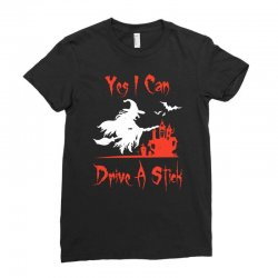 yes i can drive a stick Ladies Fitted T-Shirt | Artistshot