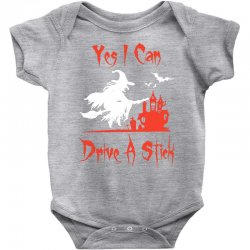 yes i can drive a stick Baby Bodysuit | Artistshot
