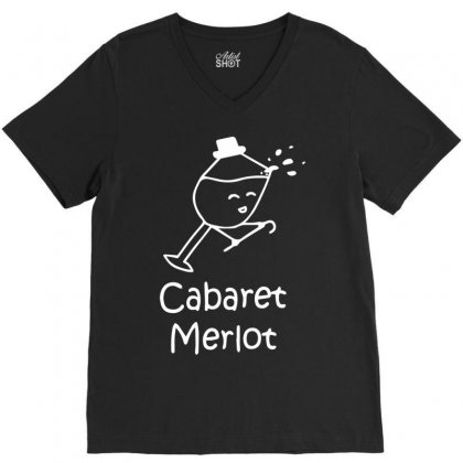 Cabaret Merlot V-neck Tee Designed By Mdk Art
