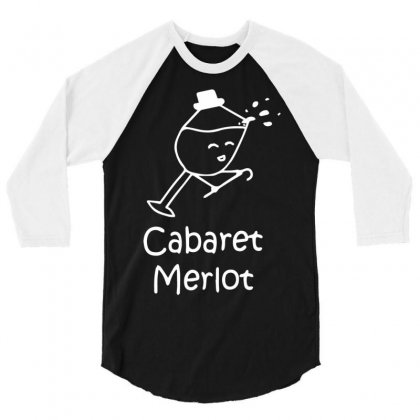 Cabaret Merlot 3/4 Sleeve Shirt Designed By Mdk Art