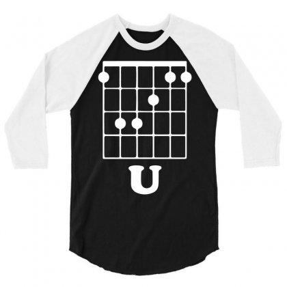 Guitar Shirts F Chord 3/4 Sleeve Shirt Designed By Mdk Art