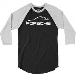 porsche logo tee 3/4 Sleeve Shirt   Artistshot