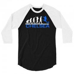 chelsea evolution sports football funny 3/4 Sleeve Shirt | Artistshot