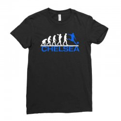 chelsea evolution sports football funny Ladies Fitted T-Shirt | Artistshot