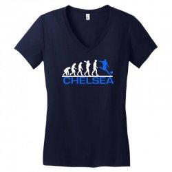 chelsea evolution sports football funny Women's V-Neck T-Shirt   Artistshot