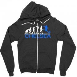 chelsea evolution sports football funny Zipper Hoodie | Artistshot