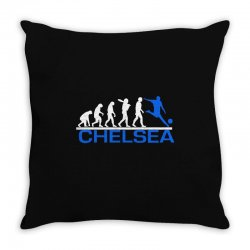 chelsea evolution sports football funny Throw Pillow   Artistshot