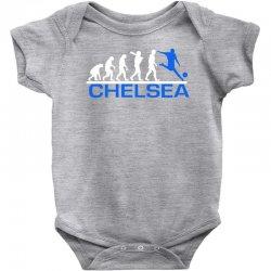 chelsea evolution sports football funny Baby Bodysuit   Artistshot