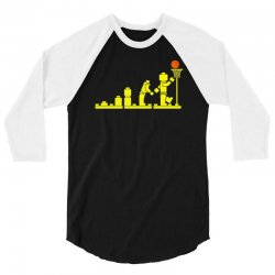 evolution lego basketball sports funny 3/4 Sleeve Shirt | Artistshot