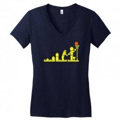 evolution lego basketball sports funny Women's V-Neck T-Shirt | Artistshot
