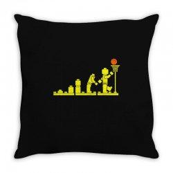 evolution lego basketball sports funny Throw Pillow | Artistshot