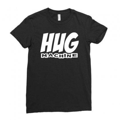 Hug Machine Funny Joke Ladies Fitted T-shirt Designed By Mdk Art